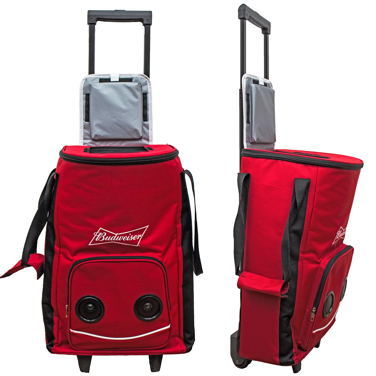 Budweiser Rolling Cooler Bag With Speakers