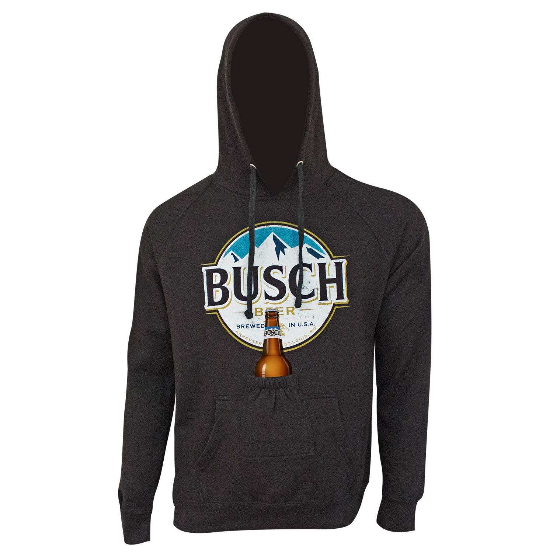 Busch Logo Black Beer Pouch Hoodie