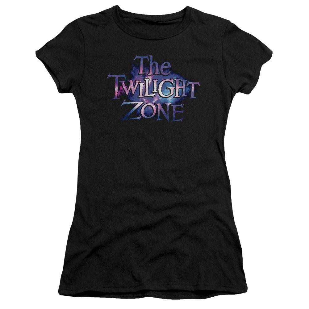 Twilight Zone Twilight Galaxy Black Juniors T-Shirt