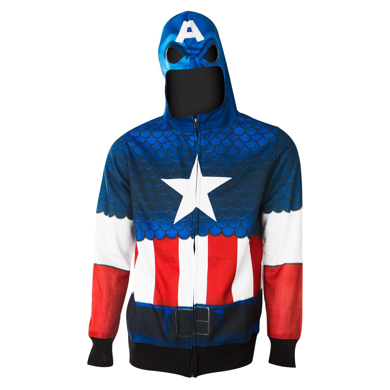 Captain America Full Zip Costume Hoodie