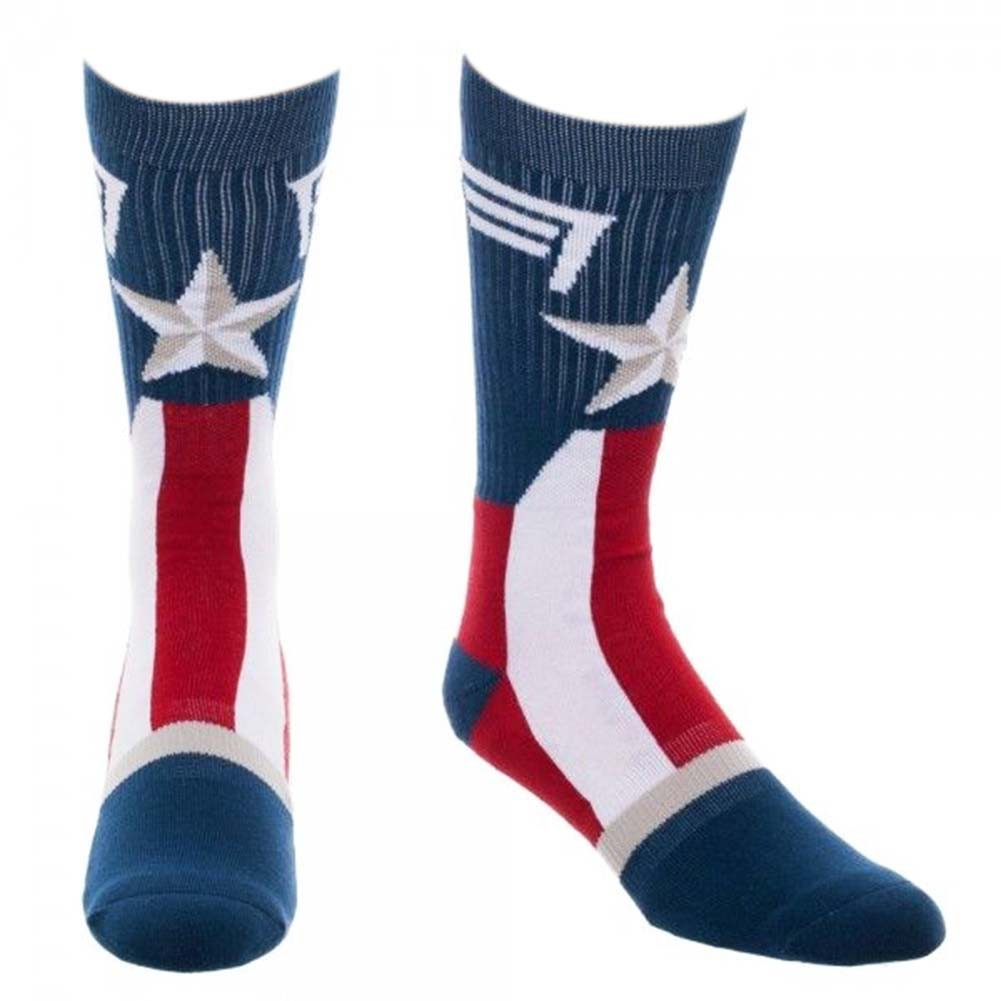 Captain America Men's Costume Crew Socks