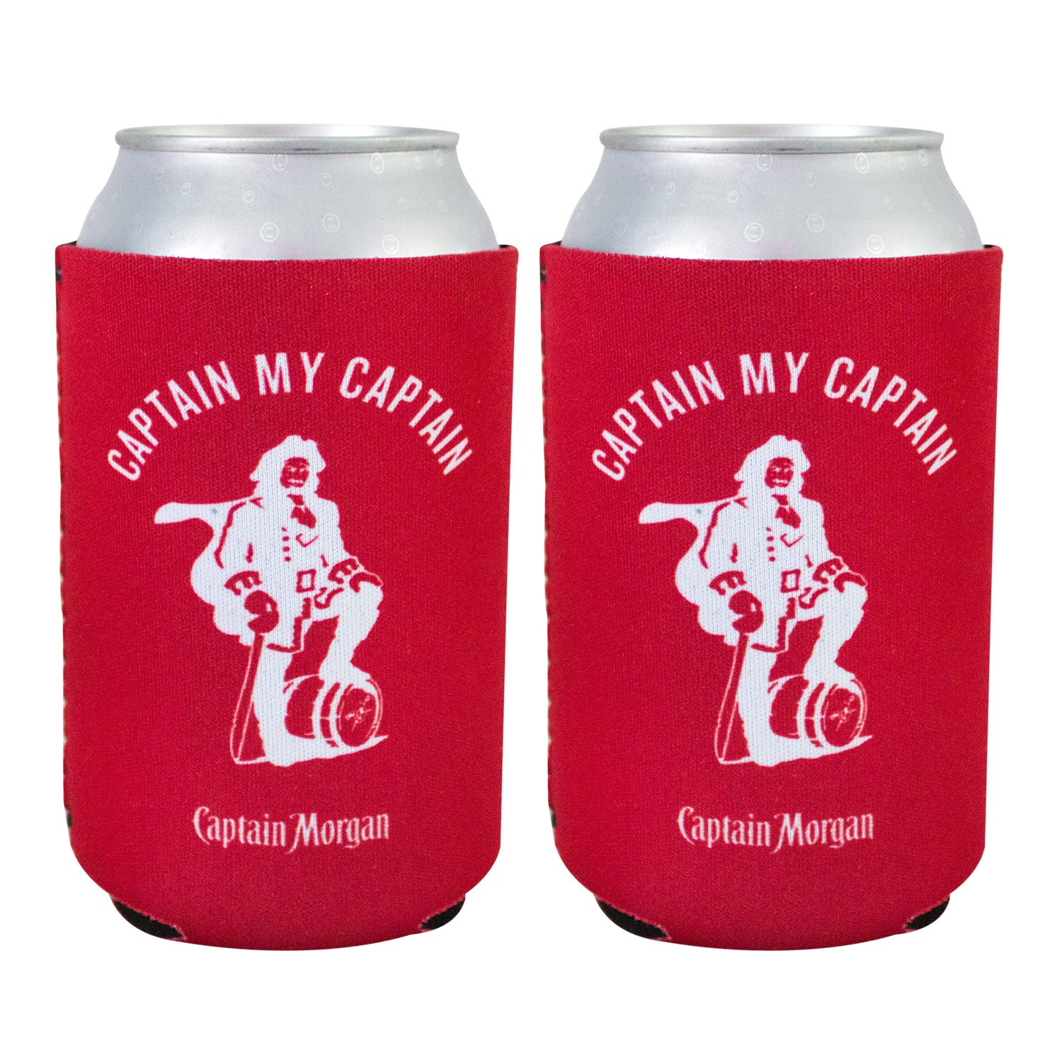 Captain Morgan Red Can Cooler Set Of 2