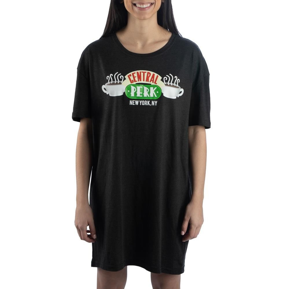 Friends Black Central Perk Ladies Night Shirt