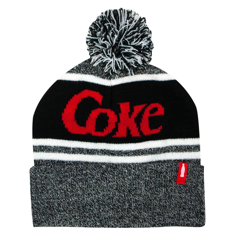Coke Pom Black And Gray Beanie