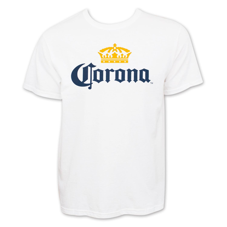 Corona Extra Men's White Beer Logo T-Shirt
