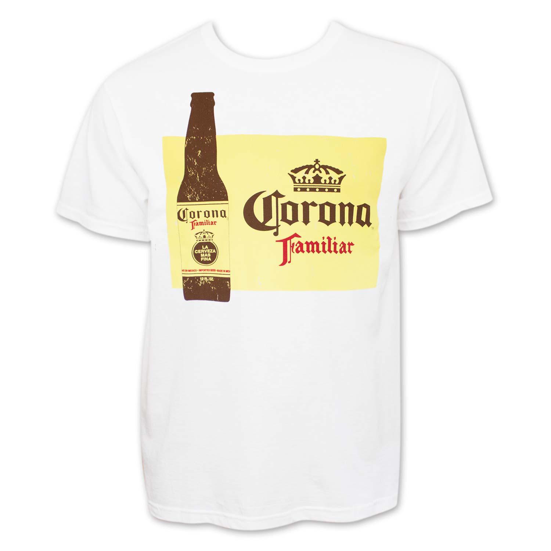 Corona Beer Familiar Men's White T-Shirt
