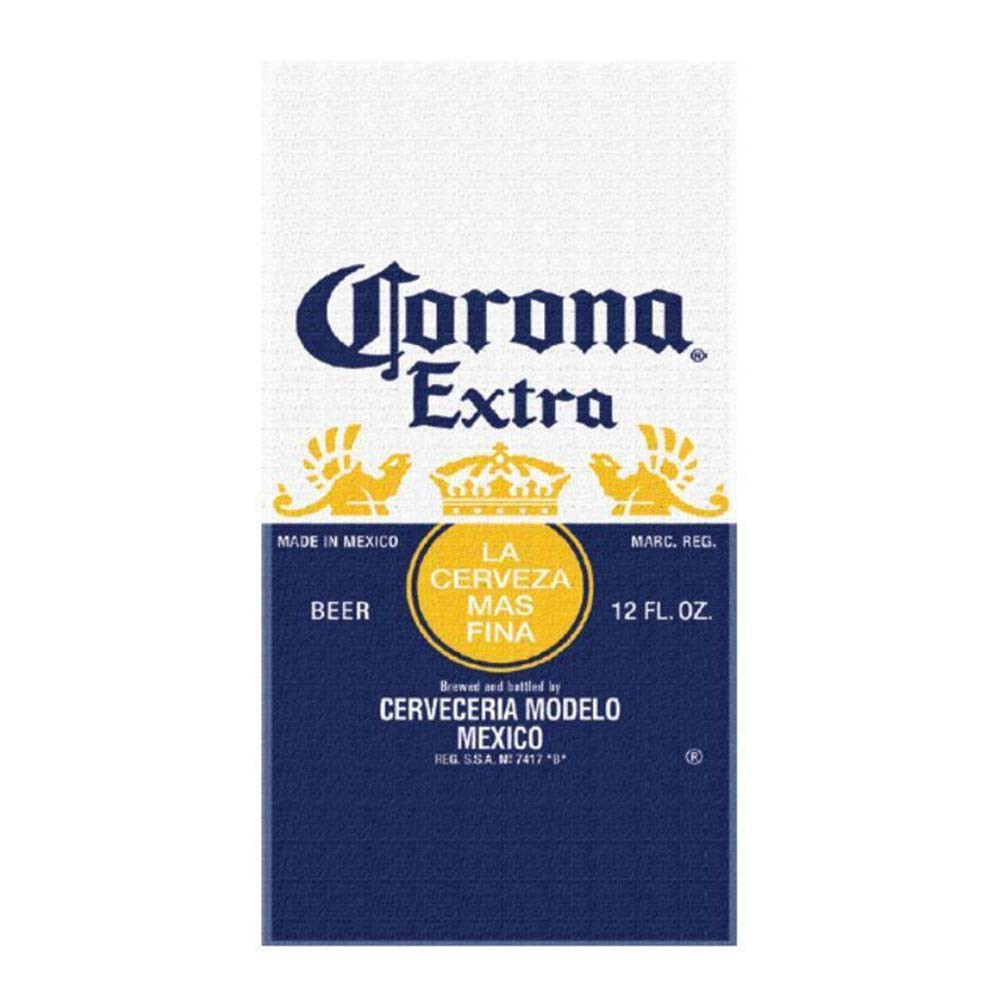 Corona Extra Beer Label Beach Towel