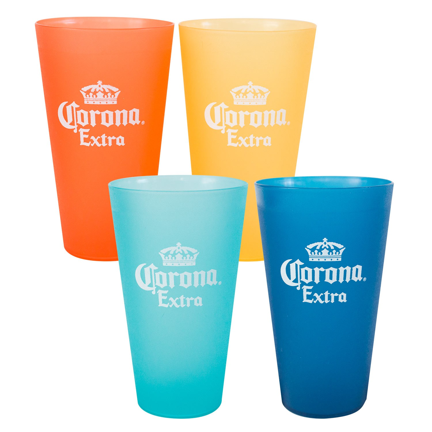 Corona Extra Multi Colored Plastic Cup Set