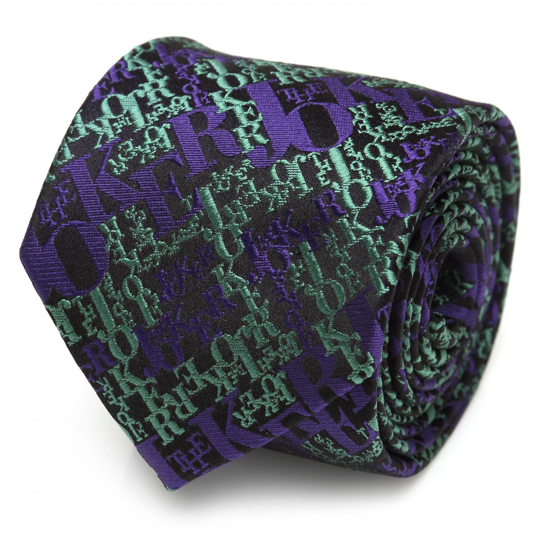 The Joker Text Logo Silk Tie