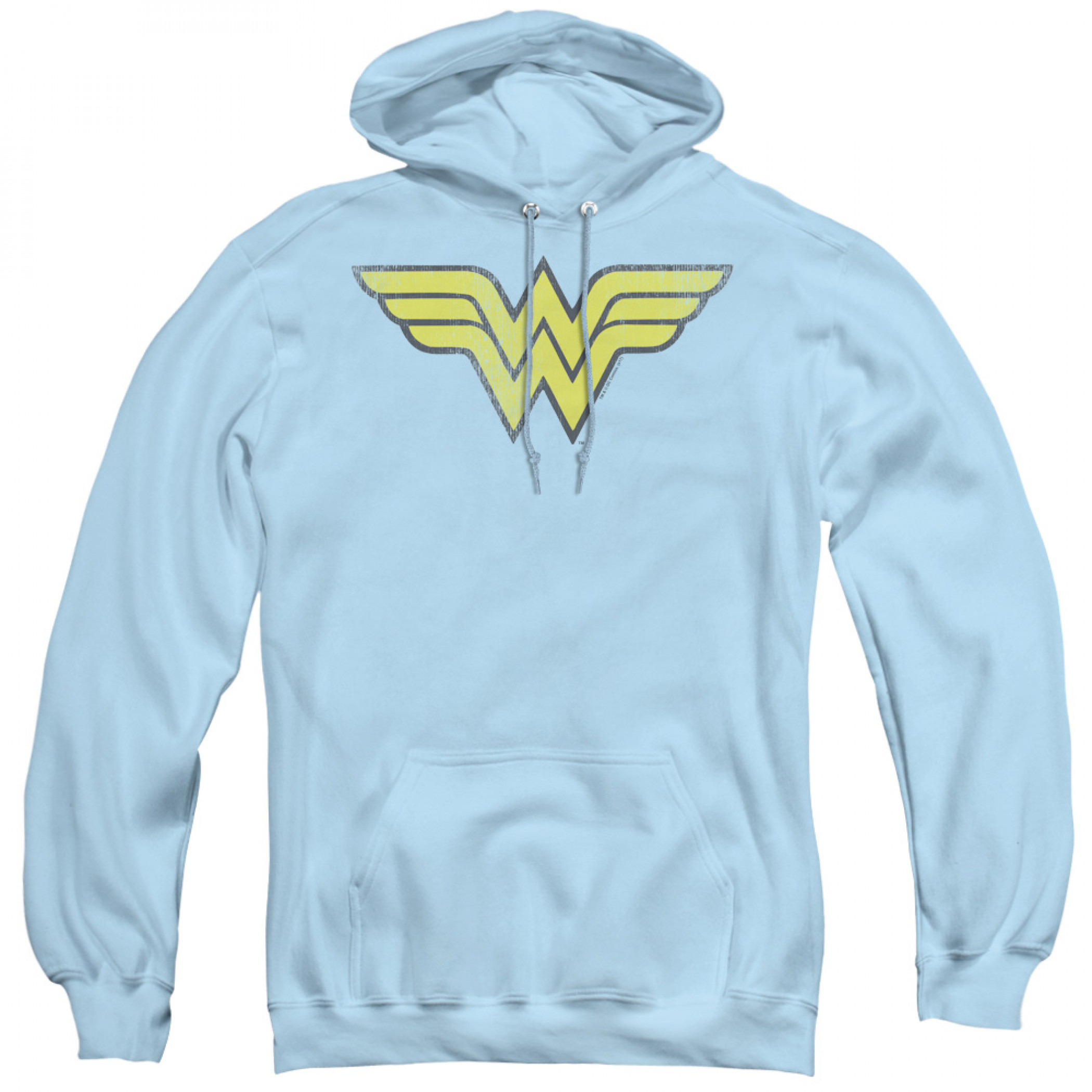Wonder Woman Logo Women's Baby Blue Hoodie