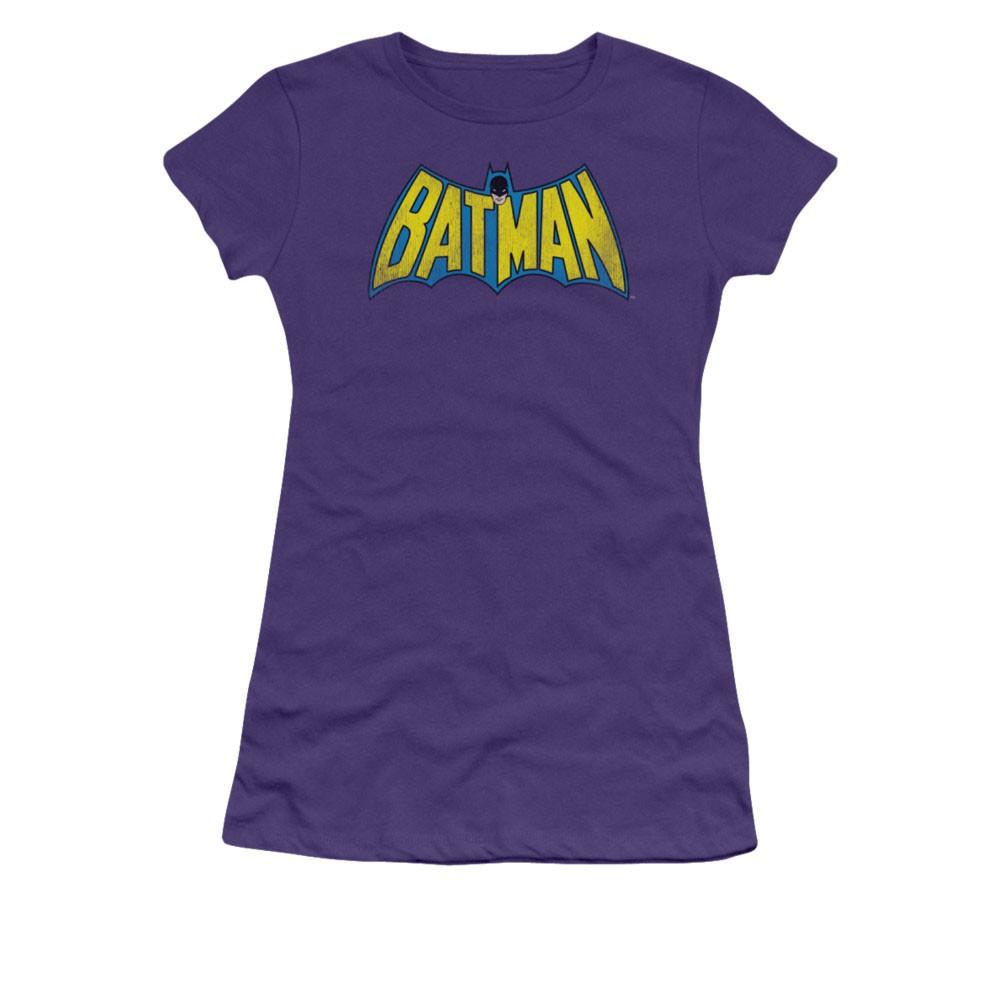 Batman Juniors Purple Classic Logo Tee Shirt