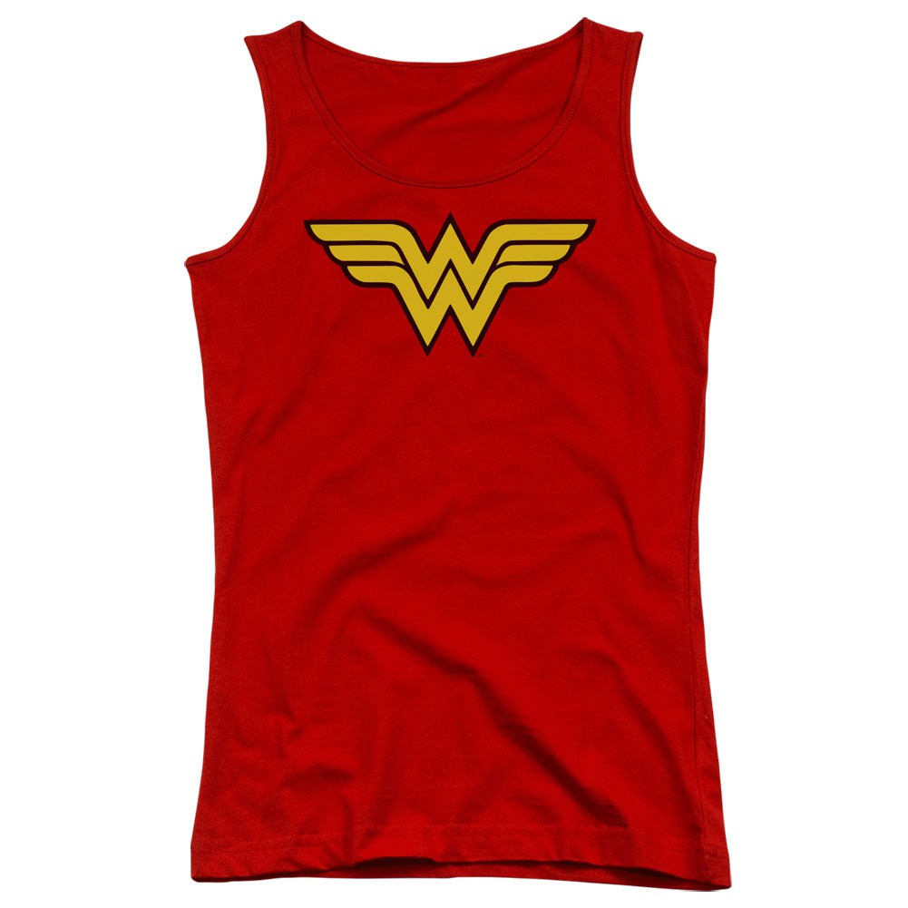 Wonder Woman Logo Red Juniors Tank Top