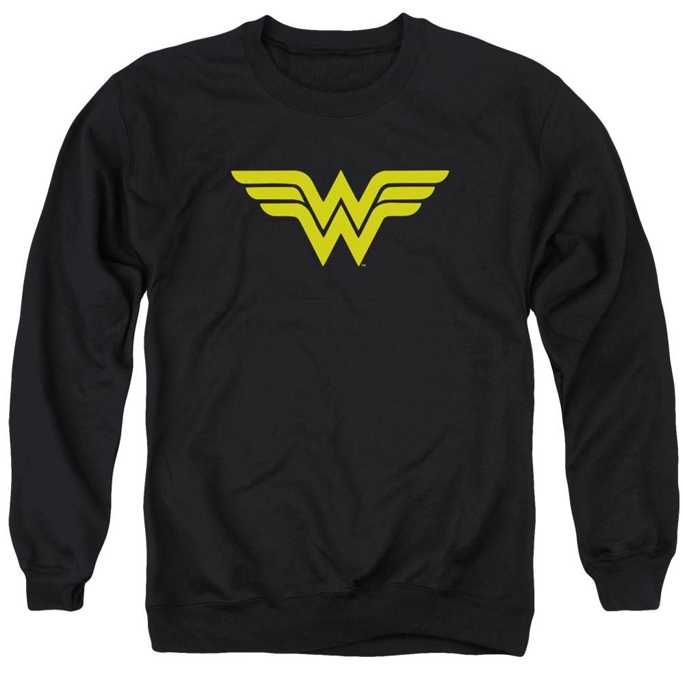Wonder Woman Logo Black Crewneck Sweatshirt