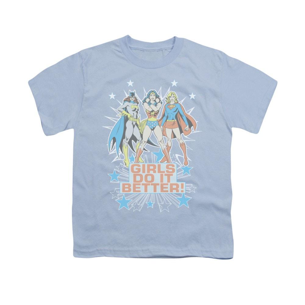 Wonder Woman Girls Do It Better Blue Youth Unisex T-Shirt