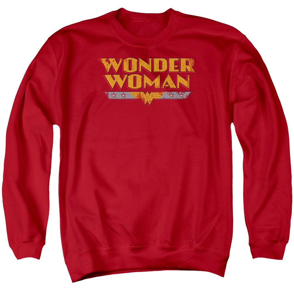 Wonder Woman Typeface Logo Crewneck Sweatshirt