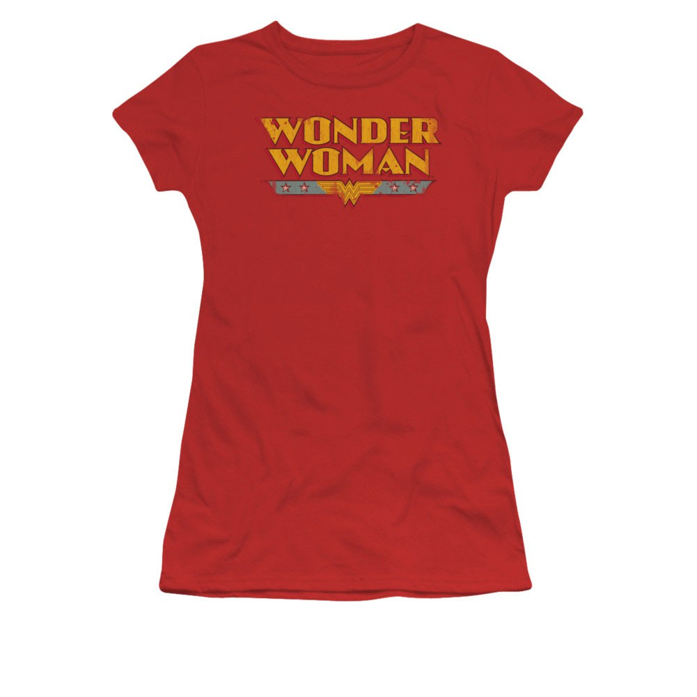 Wonder Woman Classic Logo Red Juniors T-Shirt