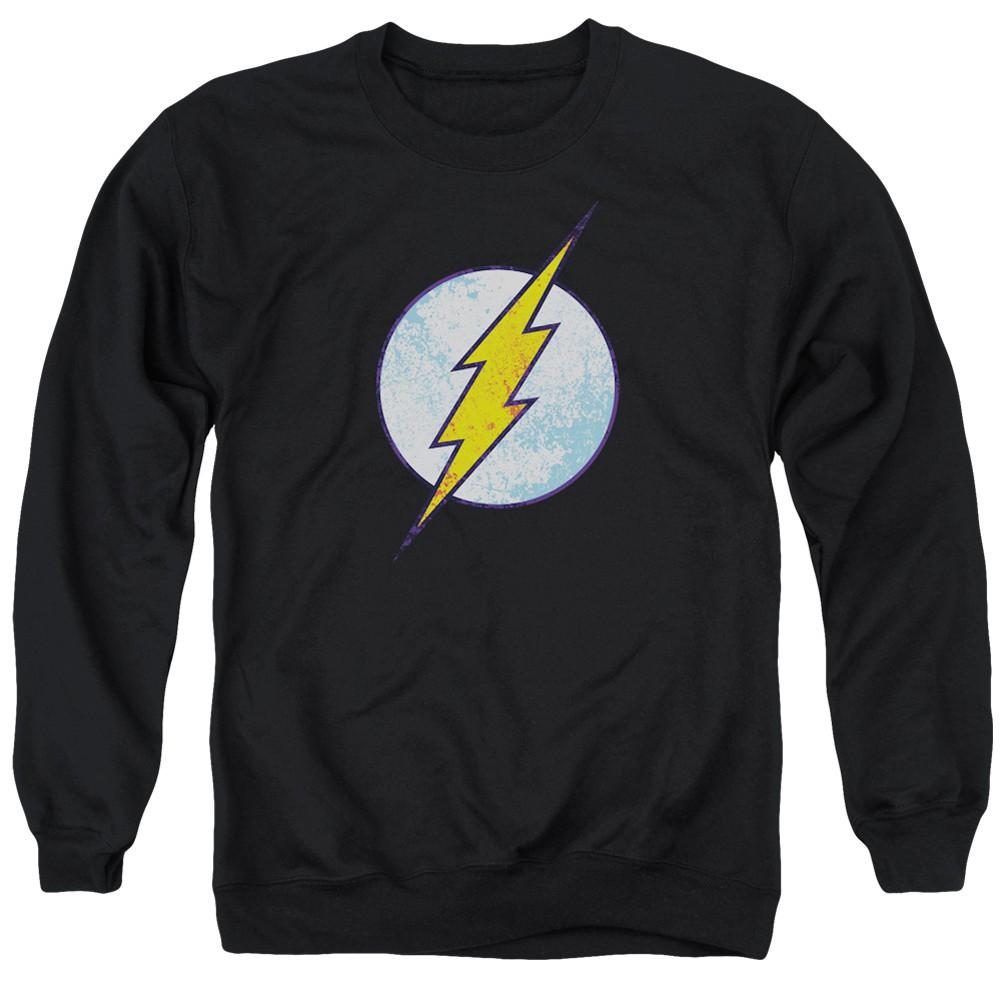 The Flash Distressed Logo Black Crewneck Sweatshirt