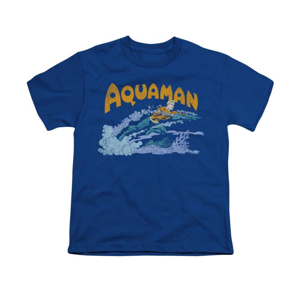 Aquaman Swim Blue Youth Unisex T-Shirt