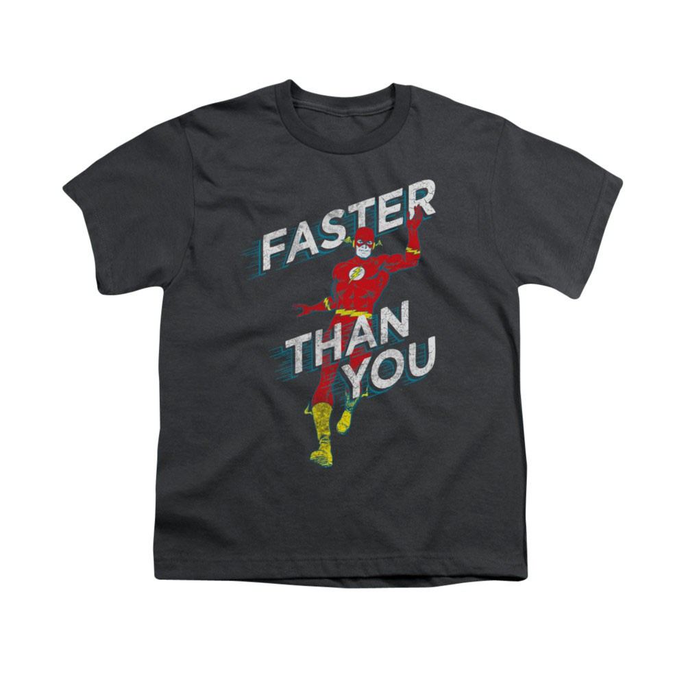 The Flash Faster Than You Gray Youth Unisex T-Shirt