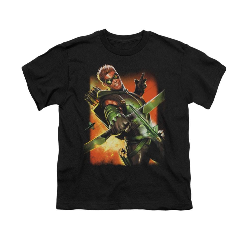 Green Arrow Black Youth Unisex T-Shirt