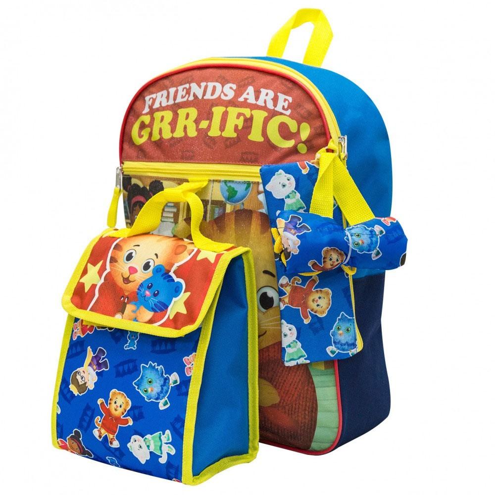 Daniel Tiger 5 Piece Backpack Set