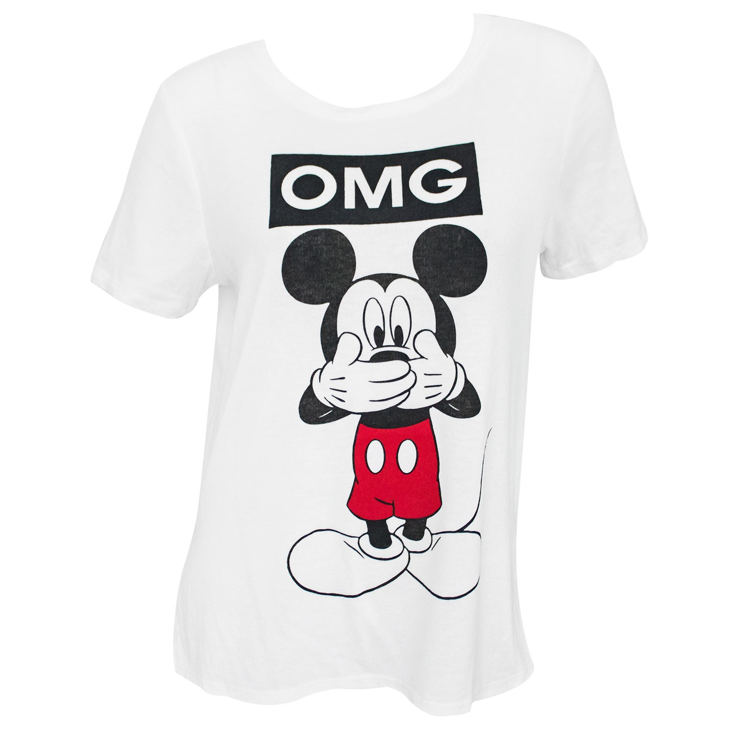 Mickey Mouse OMG Women's White T-Shirt