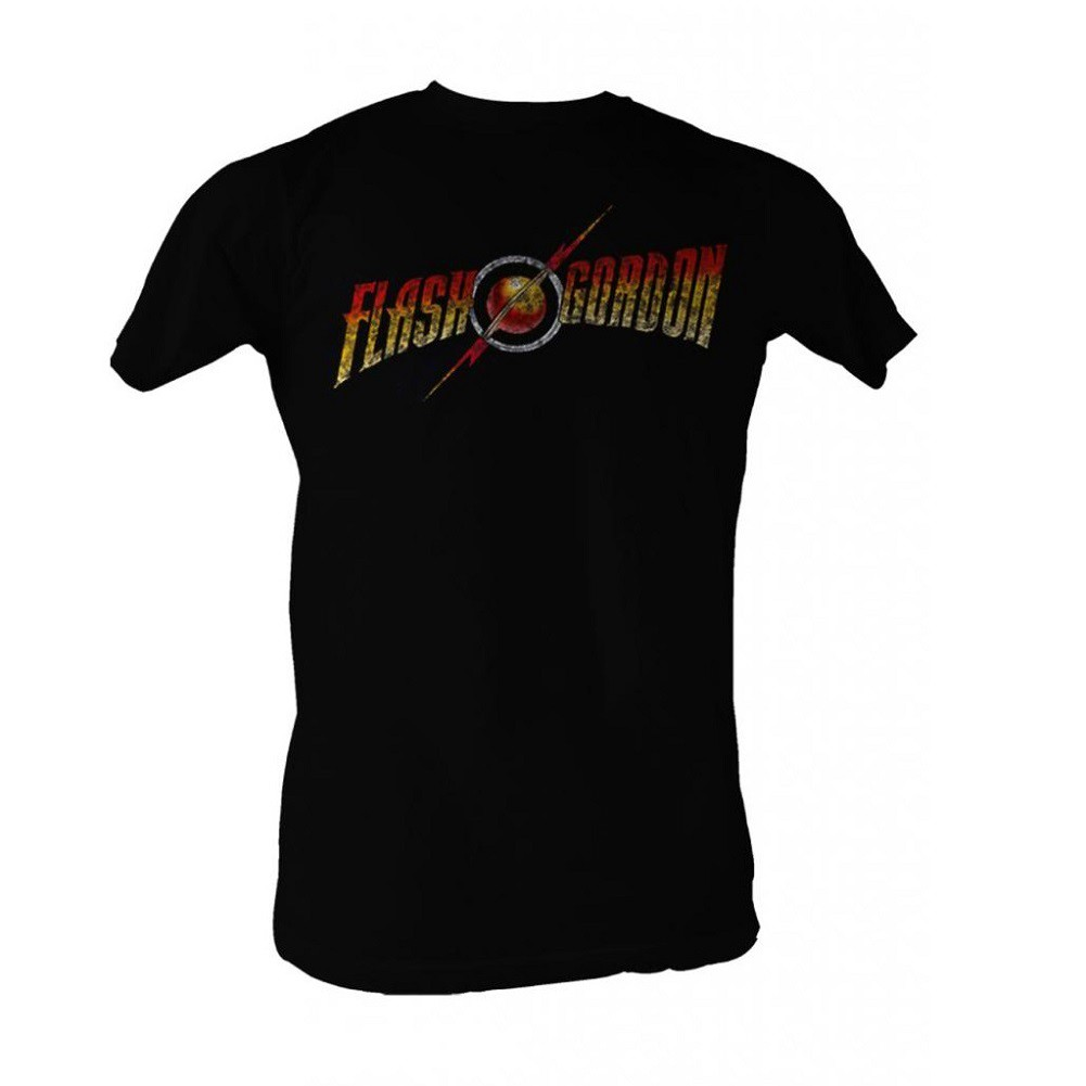 Flash Gordon Full Color Logo Men's Black T-Shirt