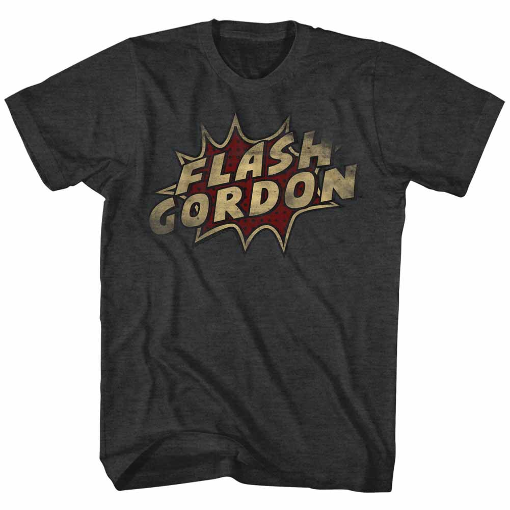 Flash Gordon Dots Mens Black T-Shirt