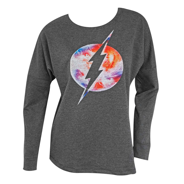 Flash Threadpixel Drop Shoulder Long Sleeve Women's Sweatshirt