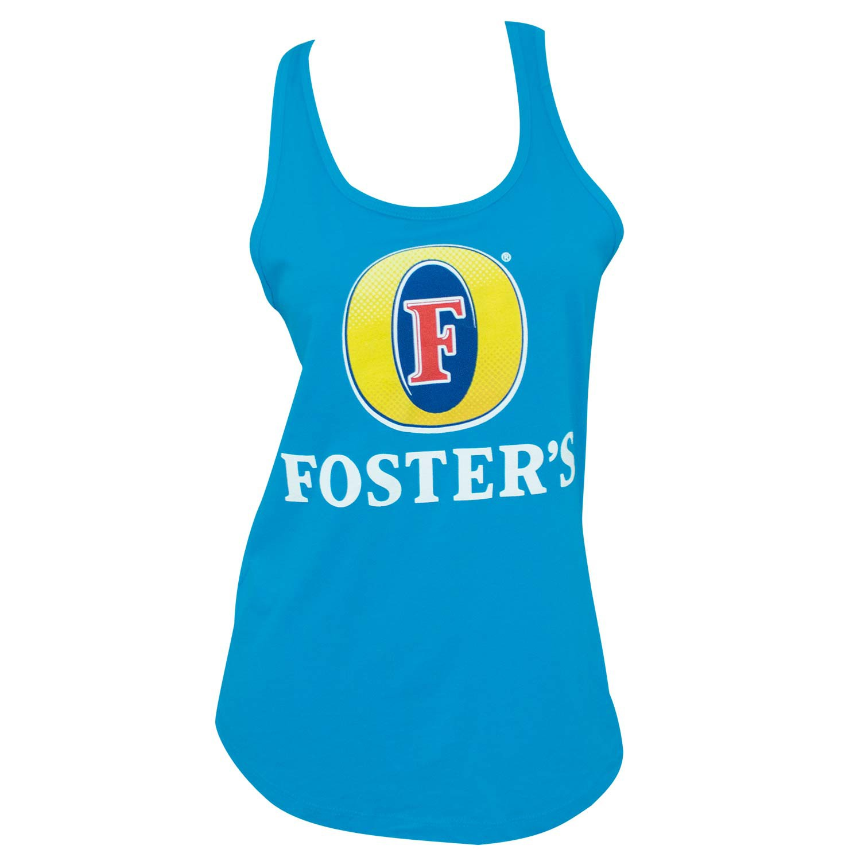Foster's Logo Racerback Women's Blue Tank Top