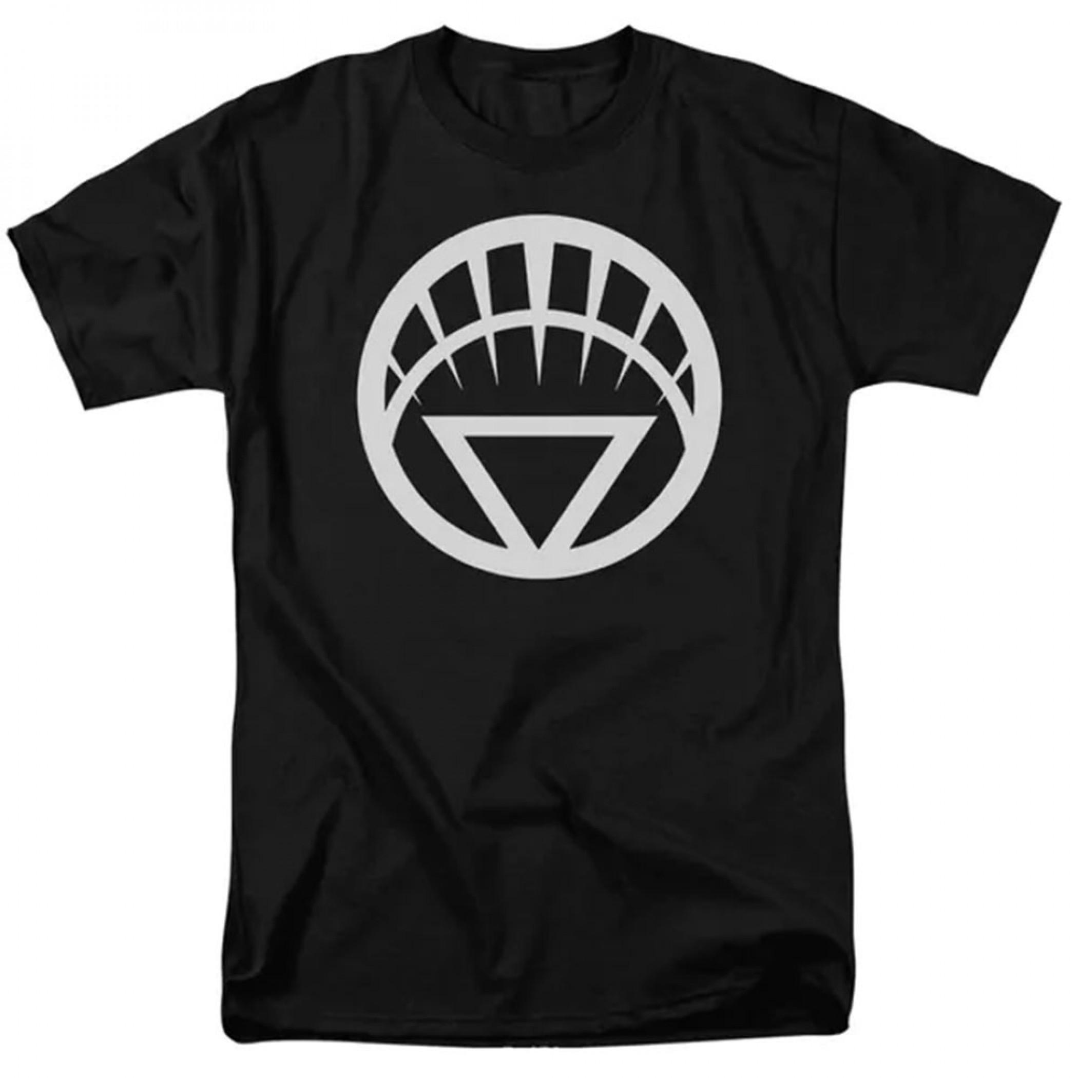 Green Lantern White Lantern Symbol Men's Black T-Shirt