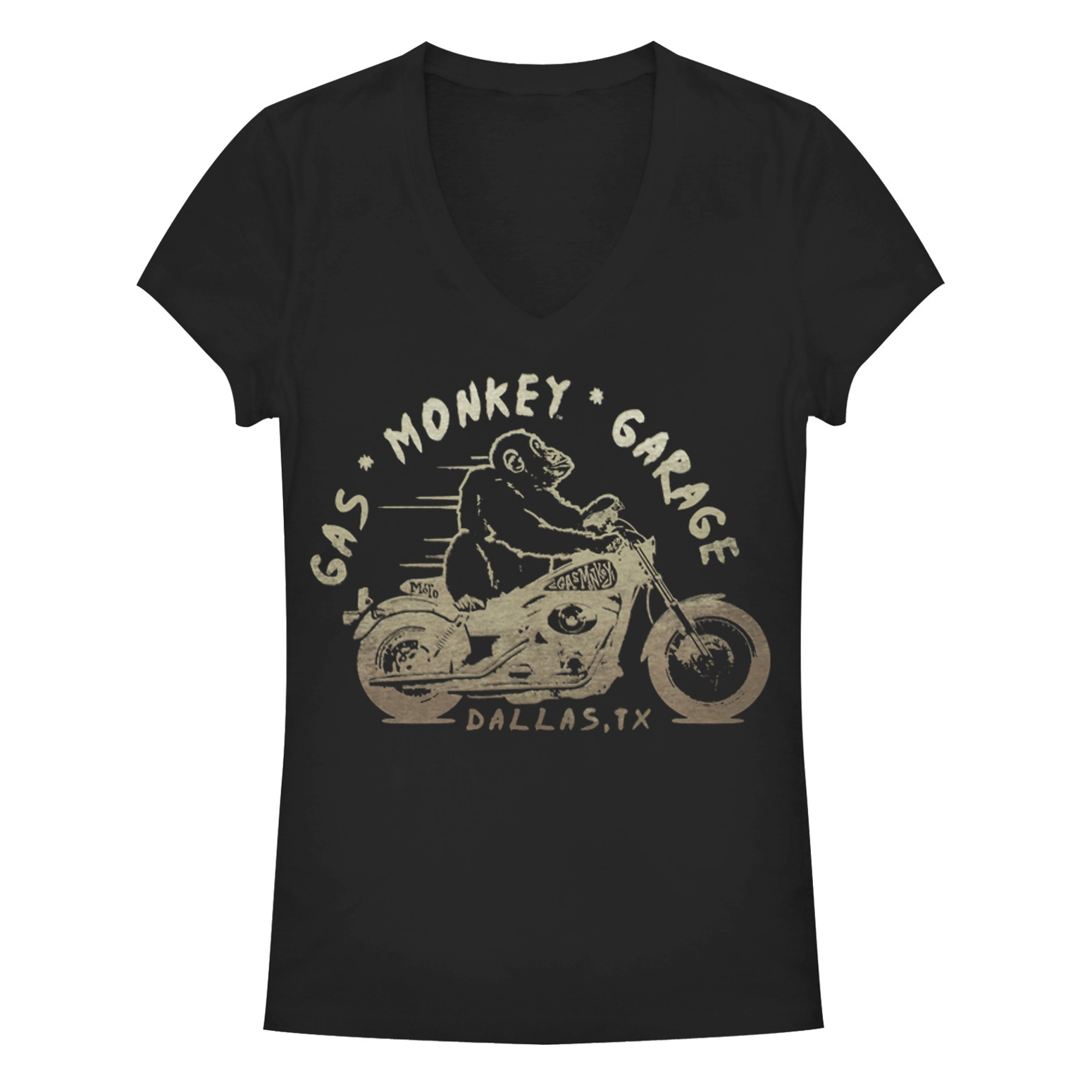 Gas Monkey Garage Vroom Black Juniors T-Shirt