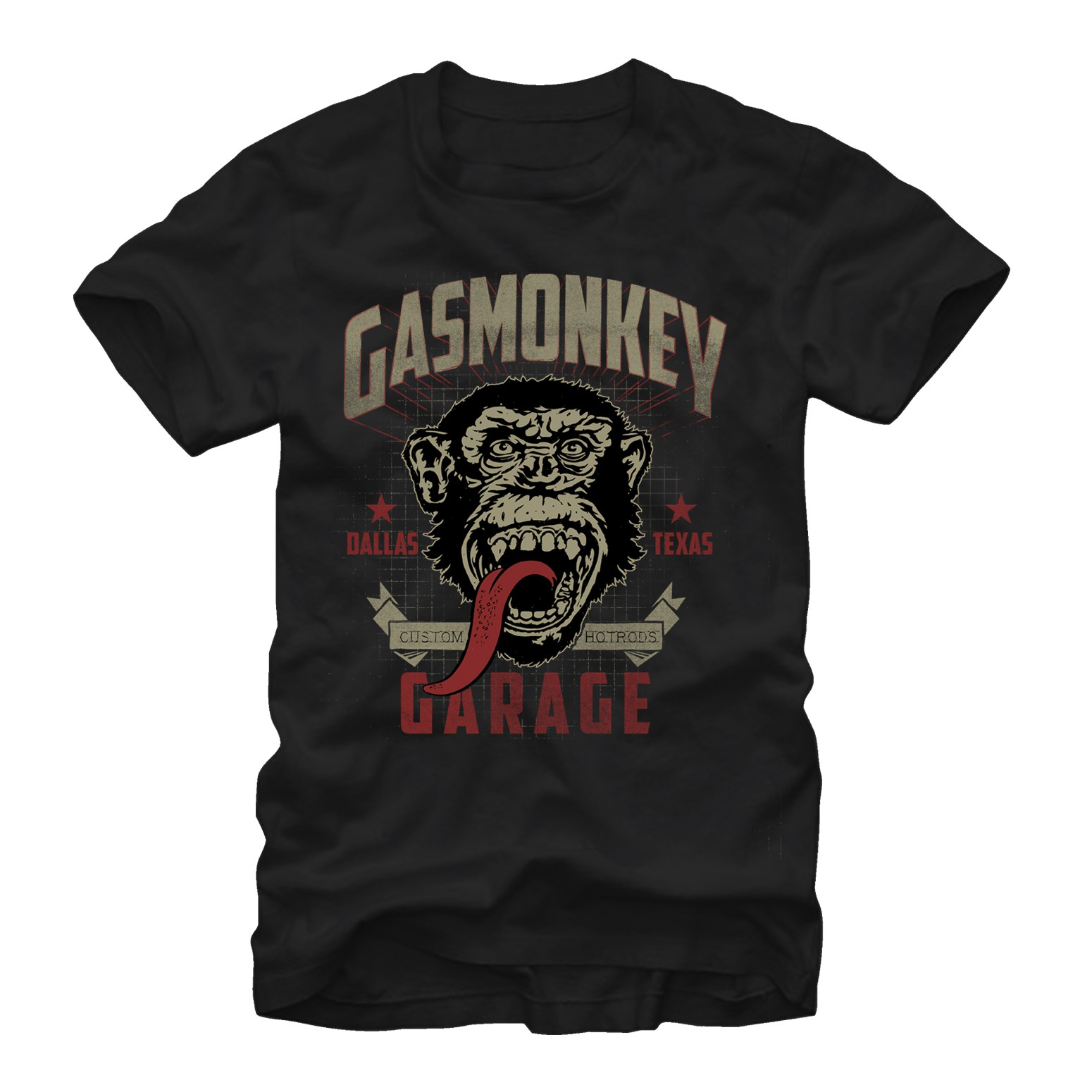 Gas Monkey Garage Framed Black T-Shirt