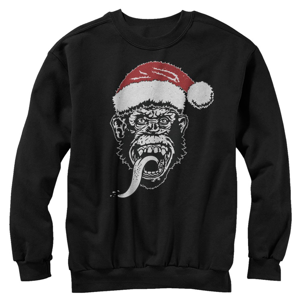 Gas Monkey Garage Santa Monkey Black Sweatshirt