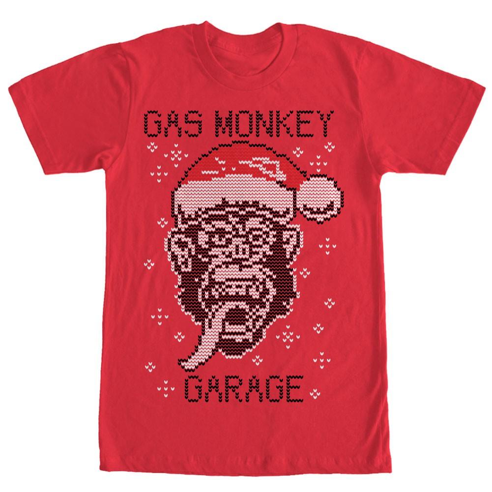 Gas Monkey Garage Knit Monkey Red T-Shirt