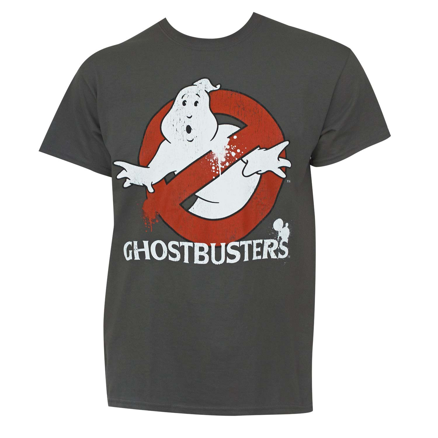 Ghostbusters Men's Grey Logo T-Shirt