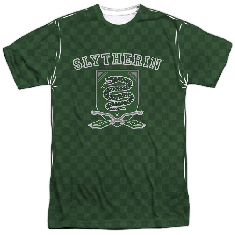 Harry Potter Checkered Green Slytherin T-Shirt