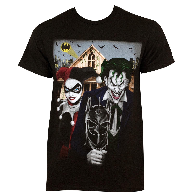 Harley Quinn The Joker American Gothic Tee Shirt