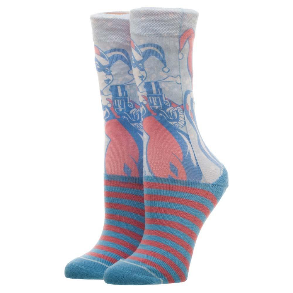 Harley Quinn Faded Neon Crew Socks