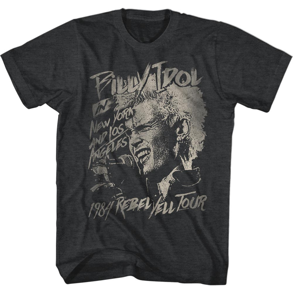 Billy Idol Blondie Boy Mens Black T-Shirt
