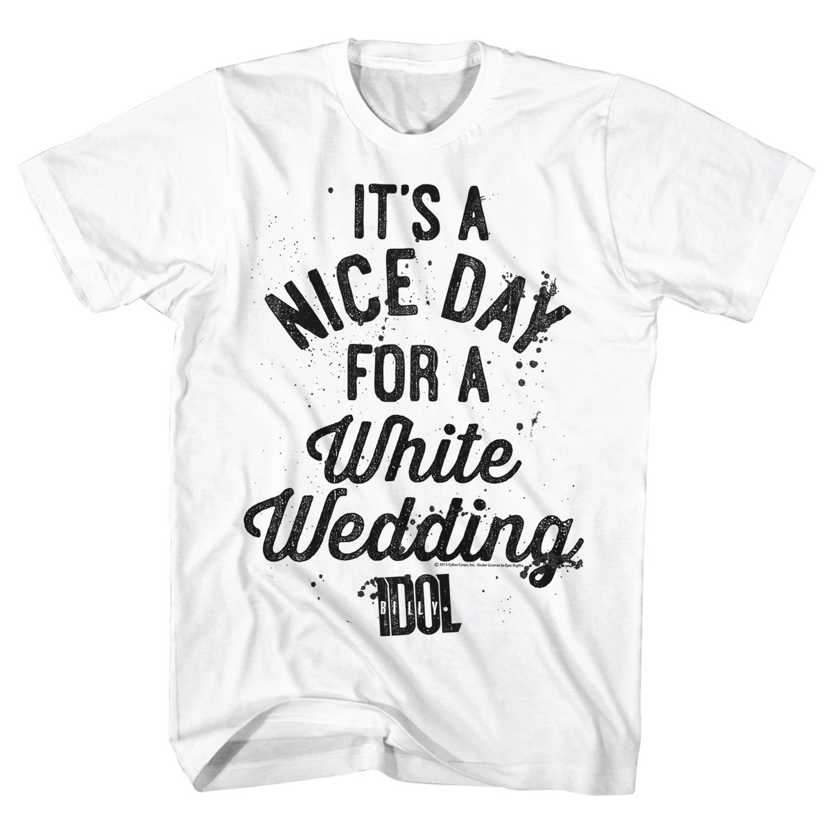 Billy Idol Nice Day  Mens White  T-Shirt