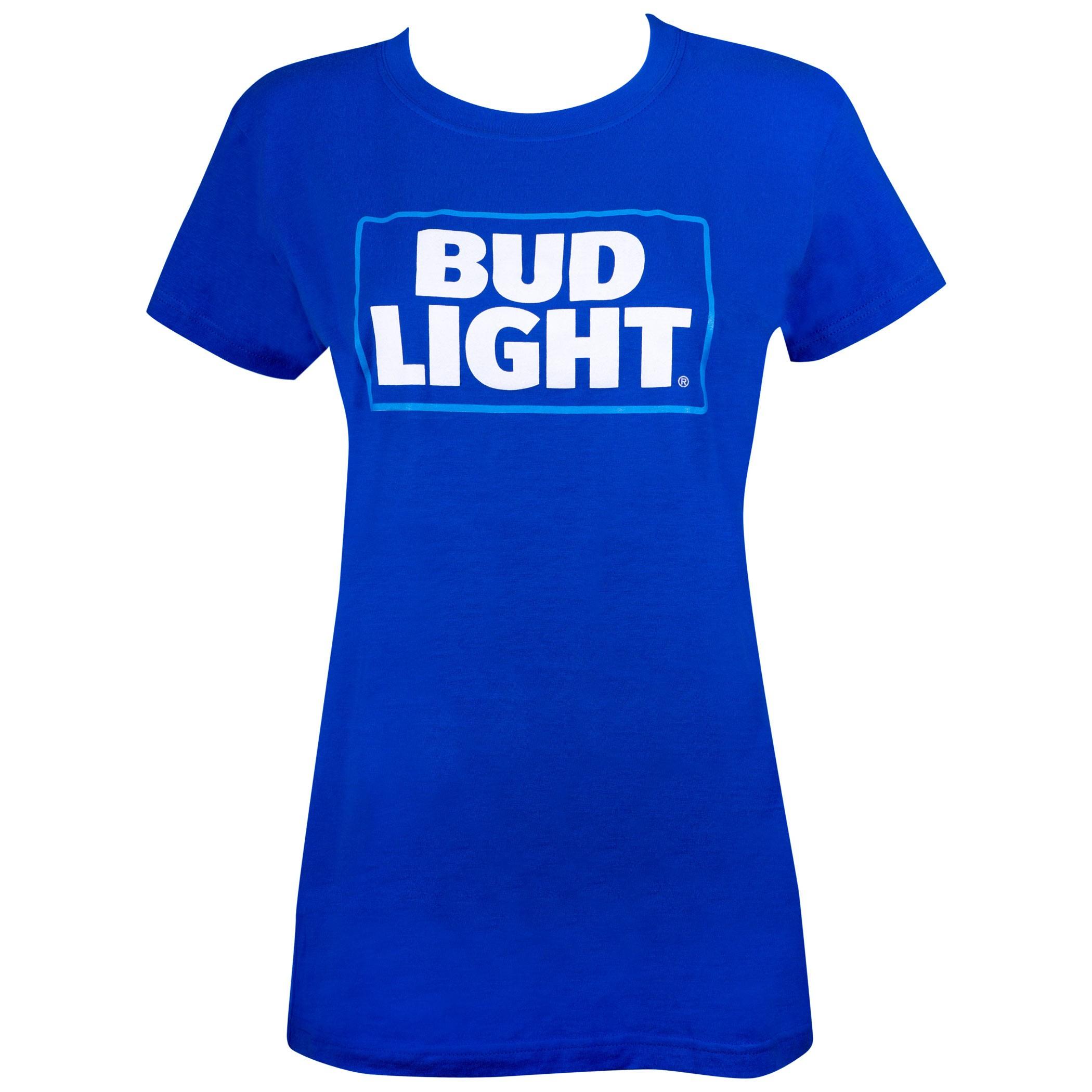Bud Light Logo Women's Blue Tshirt