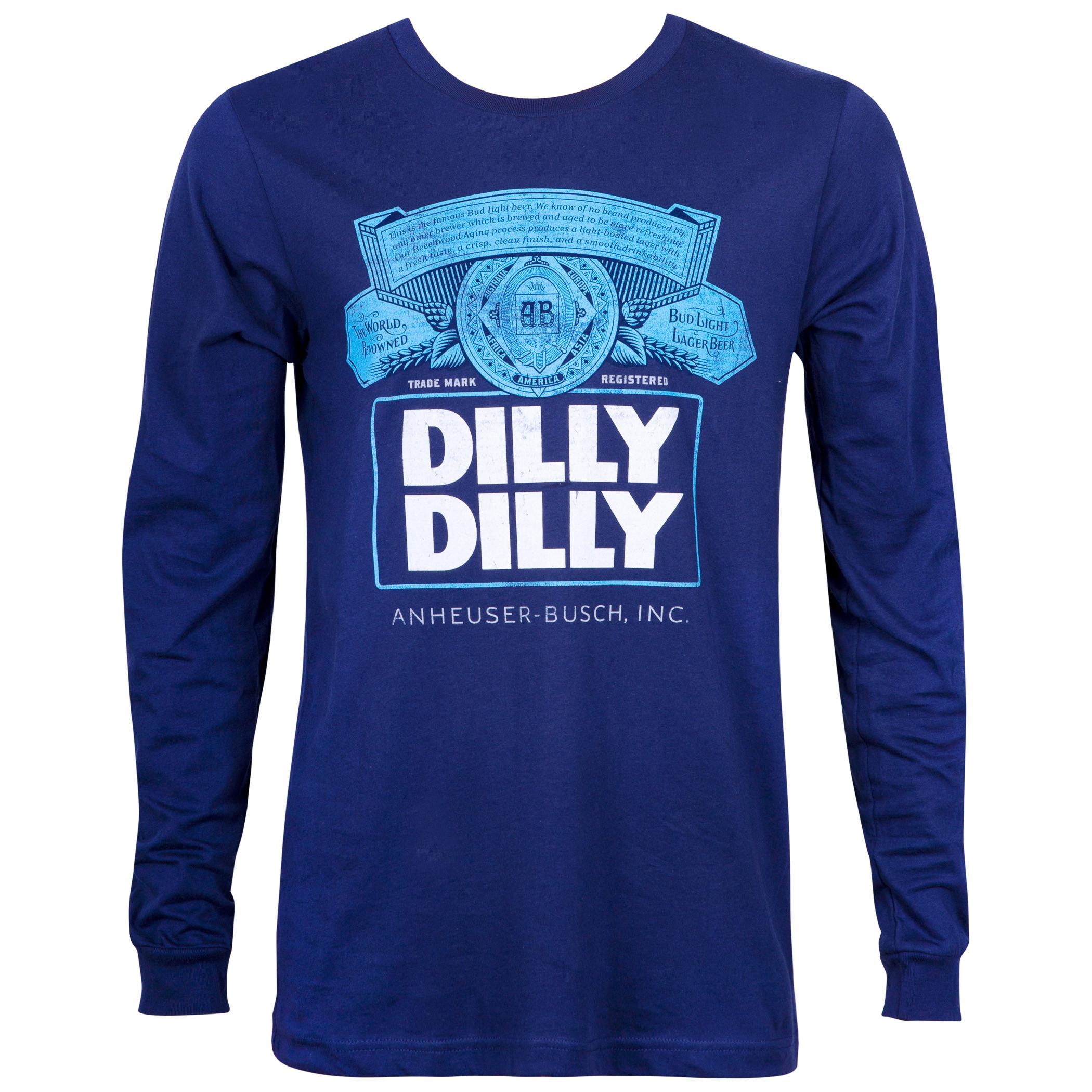 Bud Light Dilly Dilly Long Sleeve Navy Blue Shirt