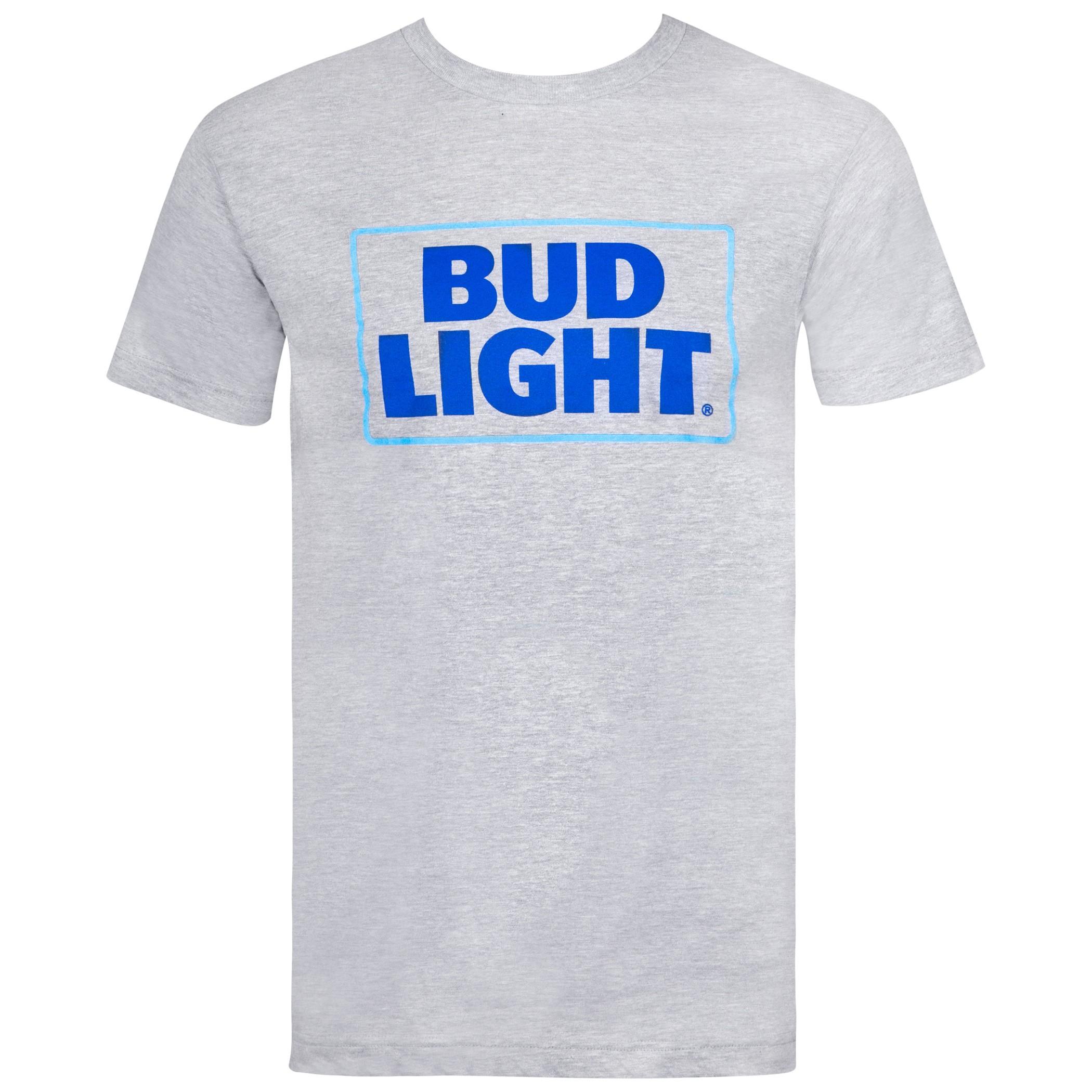 Bud Light Box Logo Grey Tshirt