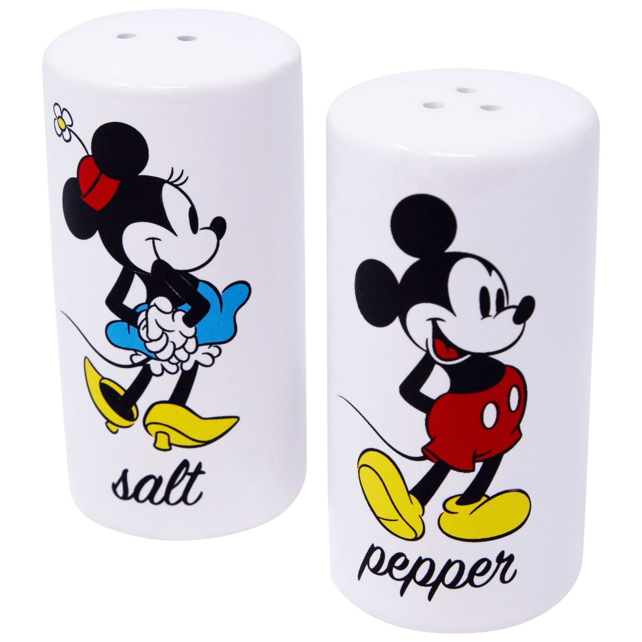 Mickey And Minnie White Salt And Pepper Shaker Set
