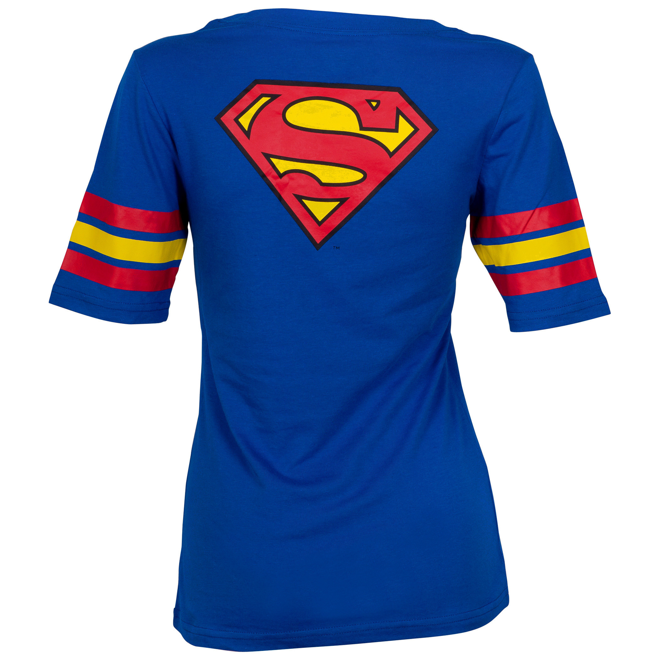 Superman Logo Jersey Print Women's T-Shirt