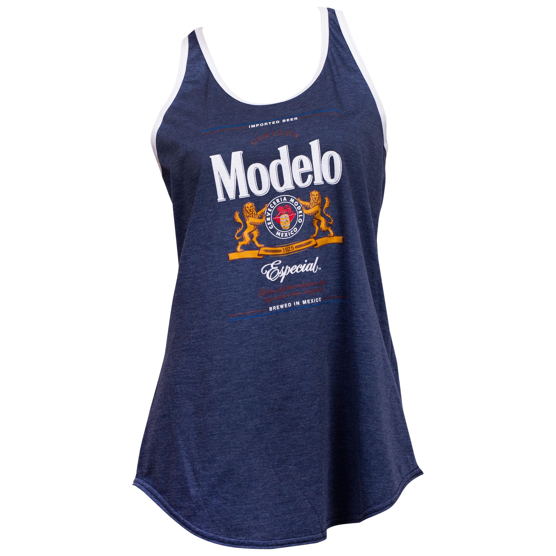 Modelo Especial Label White Trim Women's Racerback Tank Top