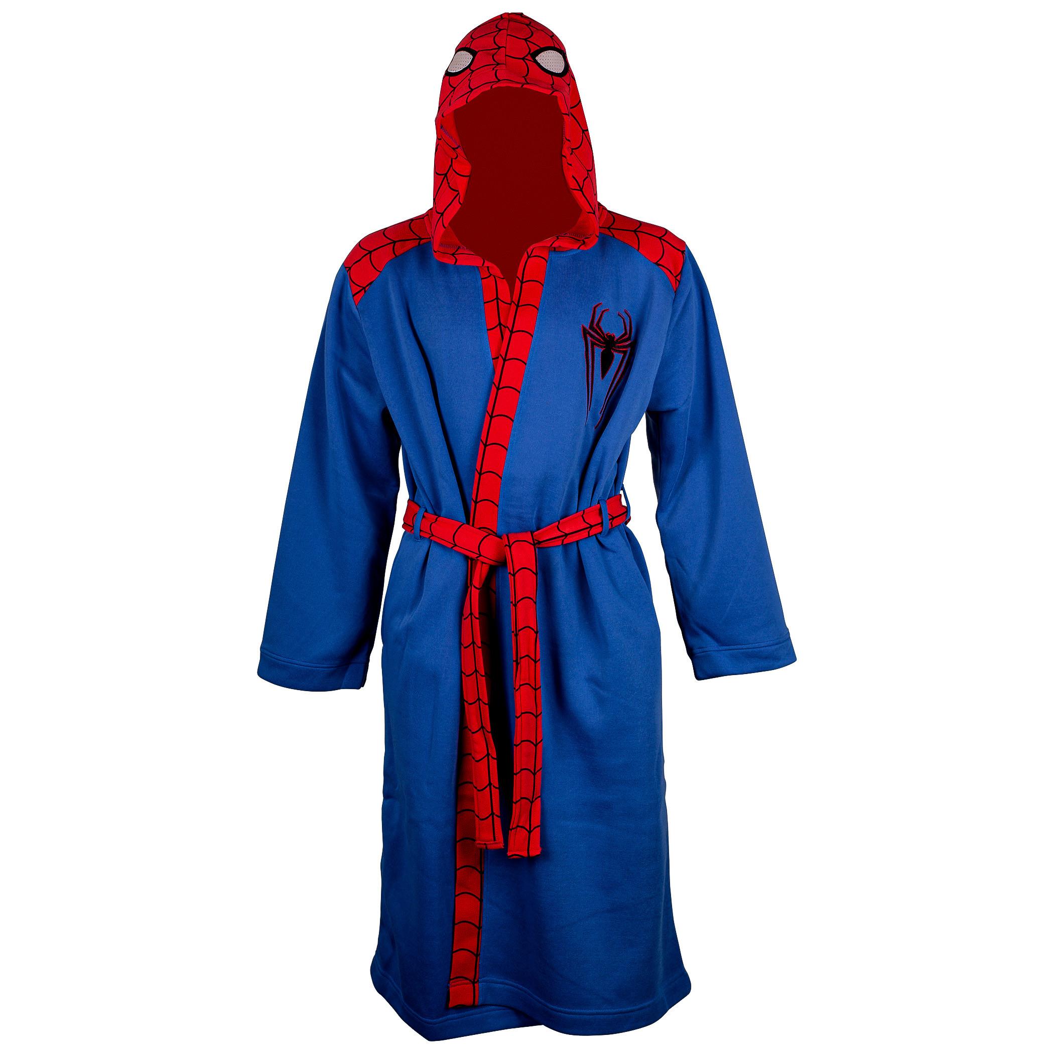 Spider-Man Men's Fleece Bathrobe