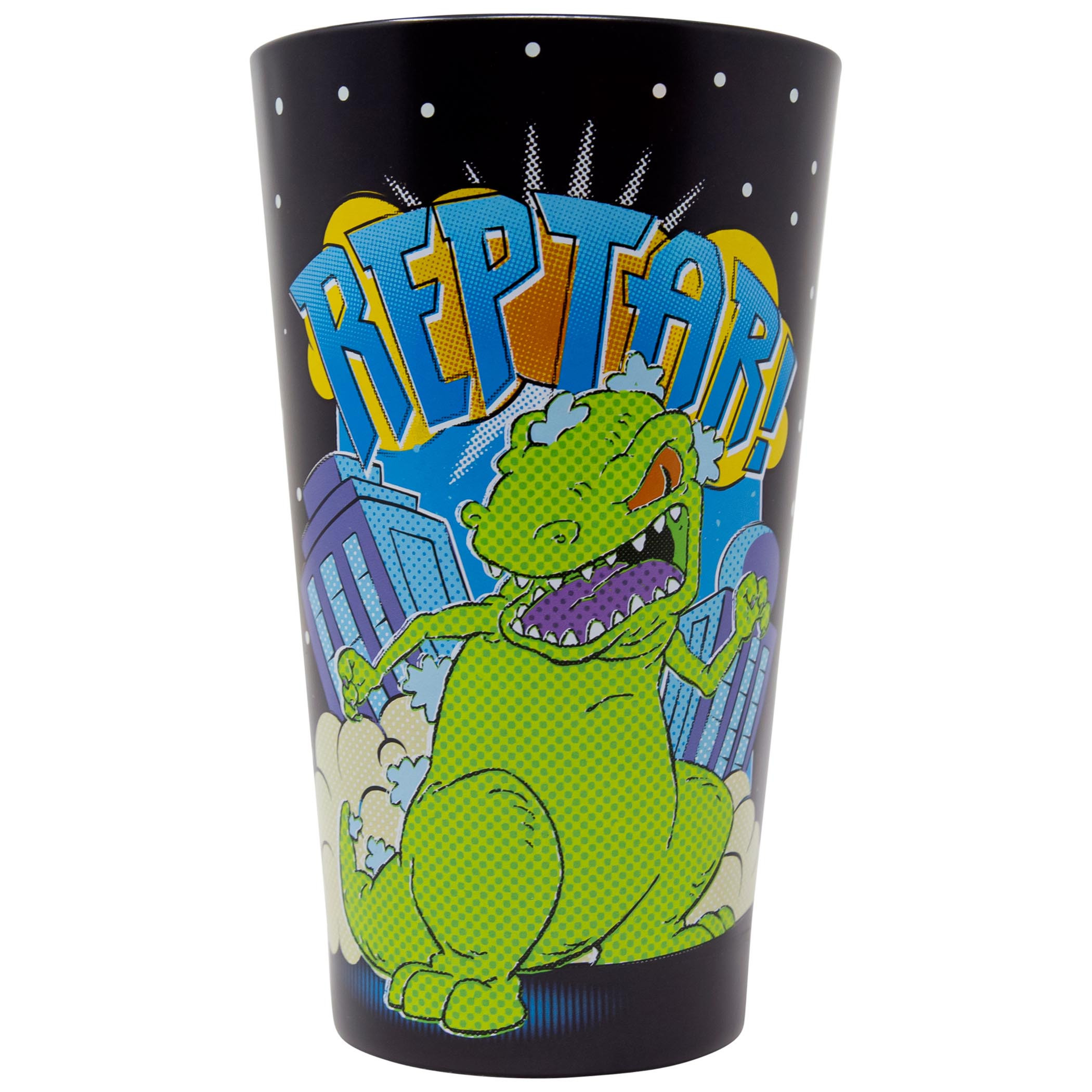Rugrats Reptar Black Pint Glass