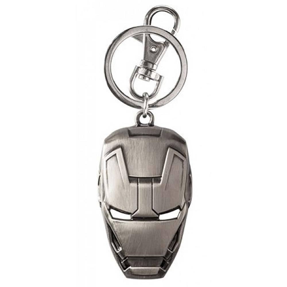 Ironman Mask Pewter Keychain